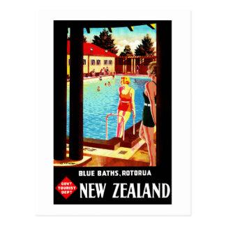 Postal Poster del vintage de Nueva Zelanda Rotorua