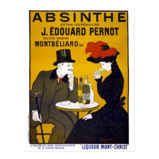 Postal Poster del vintage del ajenjo restaurado