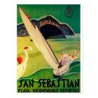 Postal Poster Donostia San Sebastián del viaje del
