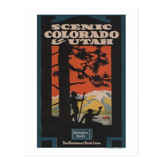 Postal Poster escénico del viaje de Colorado y de Utah