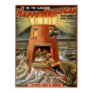 Postal Poster feliz del faro del gamberro