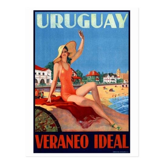 Postal Poster ideal del viaje del vintage de Uruguay