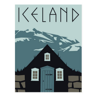 Postal - poster Islandia del viaje