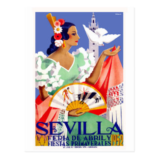 Postal Poster justo 1952 de Sevilla España abril