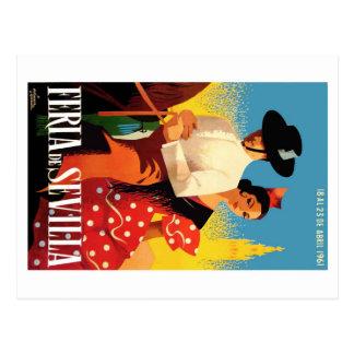 Postal Poster justo 1961 de España Sevilla abril