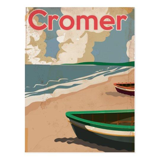 Postal Poster locomotor del viaje del vintage de Cromer