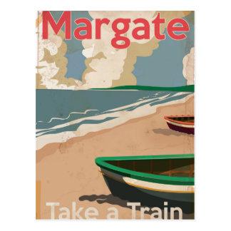 Postal Poster locomotor del viaje del vintage de Margate
