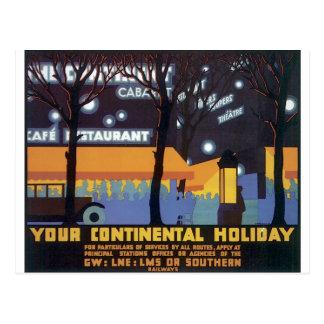 Postal Poster pasado de moda del viaje