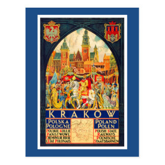 Postal Poster polaco del viaje del vintage