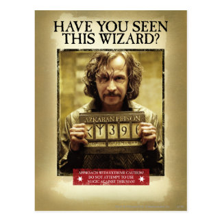 Postal Poster querido negro de Sirius