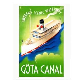 Postal Poster restaurado canal del viaje del vintage de