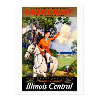 Postal Poster restaurado Mississippi del vintage de