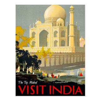 Postal Poster Restor del viaje del vintage de la India de