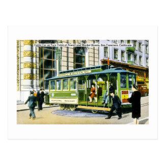 Postal Powell y calles de mercado, San Francisco, CA