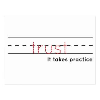 Postal práctica de la confianza el |
