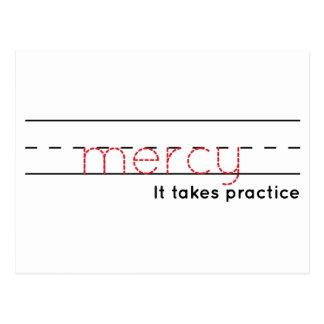 Postal práctica de la misericordia el  