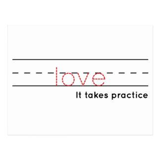 Postal práctica del amor el  