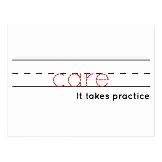 Postal práctica del cuidado el  