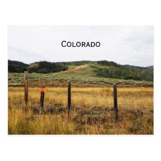 Postal pradera en Colorado