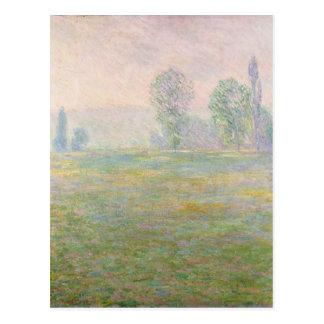Postal Prados de Claude Monet el | en Giverny, 1888