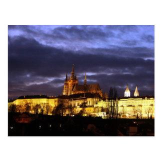 Postal Praga con noche