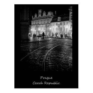 Postal Praga en la noche