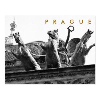 Postal Praga - teatro nacional