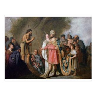 Postal Predicación de San Juan Bautista