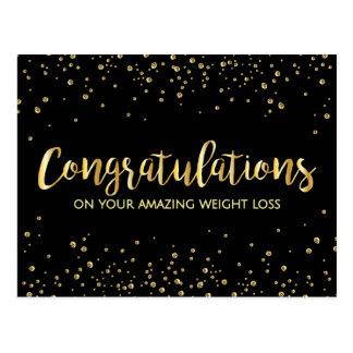 Postal Premio negro de la pérdida de peso de la