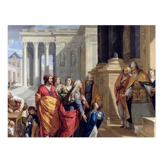 Postal Presentación de la Virgen en el templo