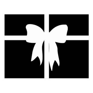 Postal Presente envuelto blanco y negro