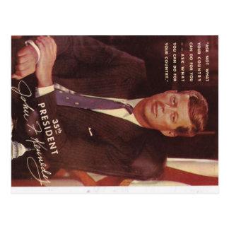 Postal Presidente de JFK Kennedy