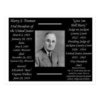 Postal Presidente Harry Truman
