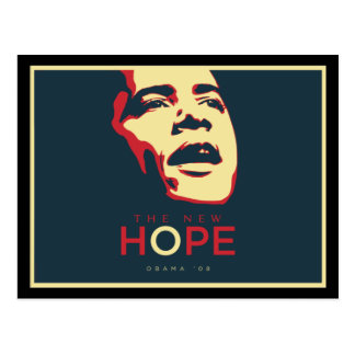 Postal Presidente Obama Hope Postcard - modificada para