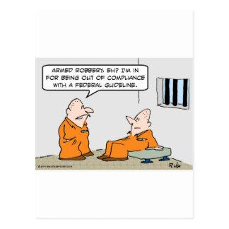 Postal presos federales de la pauta de la conformidad