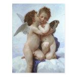 Postal Primer beso de Bouguereau, antiguos ángeles victor