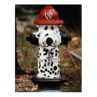 Postal Primer de la boca de incendios