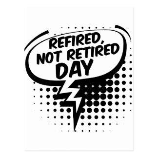 Postal Primer de marzo - Refired, no jubilados día