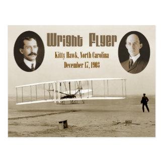 Postal Primer vuelo del aviador 1903 de Wright