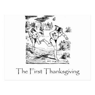 Postal Primera acción de gracias
