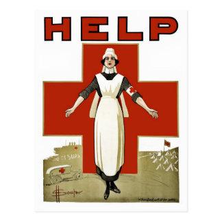 Postal Primera Guerra Mundial australiana del vintage de