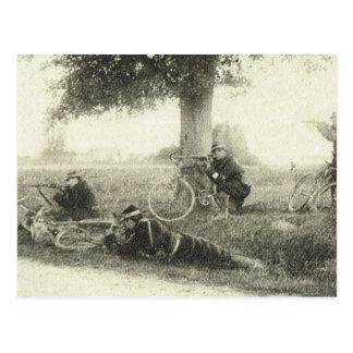 Postal Primera Guerra Mundial, brigada de la bicicleta