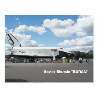 Postal Primera lanzadera soviética Buran