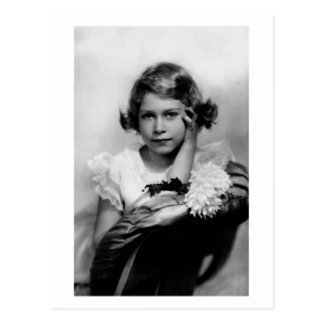 Postal Princesa Elizabeth de la fotografía del vintage