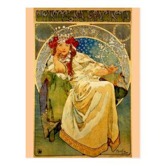Postal Princesa Hyacinth por Mucha