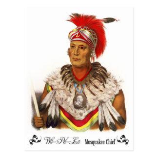Postal Principal Wapello, jefe de Musquakee