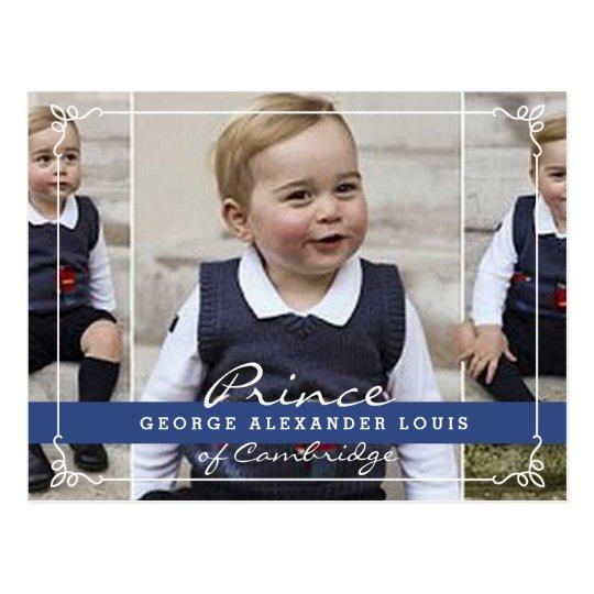 Postal Príncipe George - Guillermo y Kate