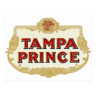 Postal Príncipe LabelVintage de Tampa de los cigarros de