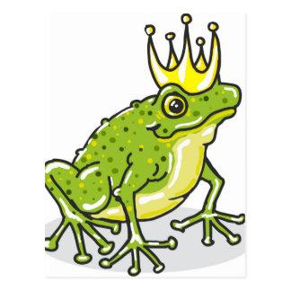 Postal Príncipe princesa Sketch de la rana