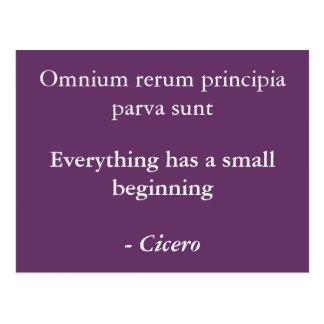 Postal Principia del rerum de Omnium